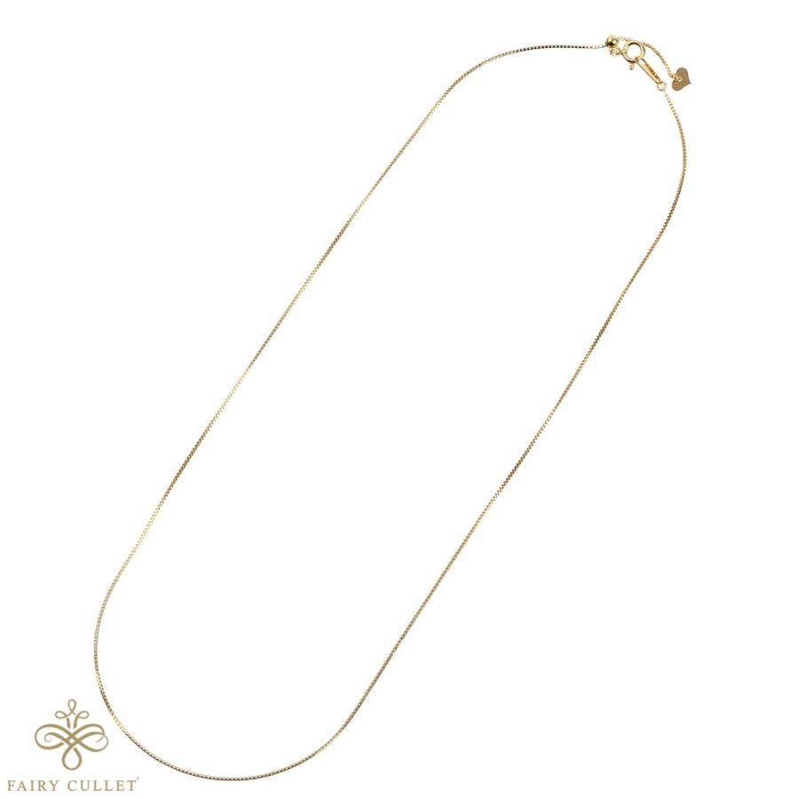 [フェアリーカレット] 18金ネックレス K18 ベネチアンチェーン 45cm (ハート型アジャスター 0.7mm幅 約1.8g)|takumi-shopping|03