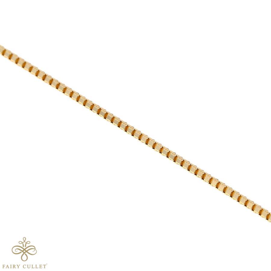 [フェアリーカレット] 18金ネックレス K18 ベネチアンチェーン 45cm (ハート型アジャスター 0.7mm幅 約1.8g)|takumi-shopping|04