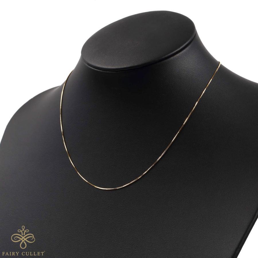 [フェアリーカレット] 18金ネックレス K18 ベネチアンチェーン 45cm (ハート型アジャスター 0.7mm幅 約1.8g)|takumi-shopping|05