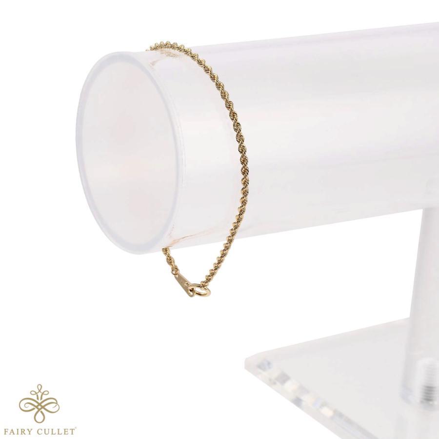 18金ブレスレット K18 ロープ・チェーン 幅2mm 長さ18cm|takumi-shopping|04