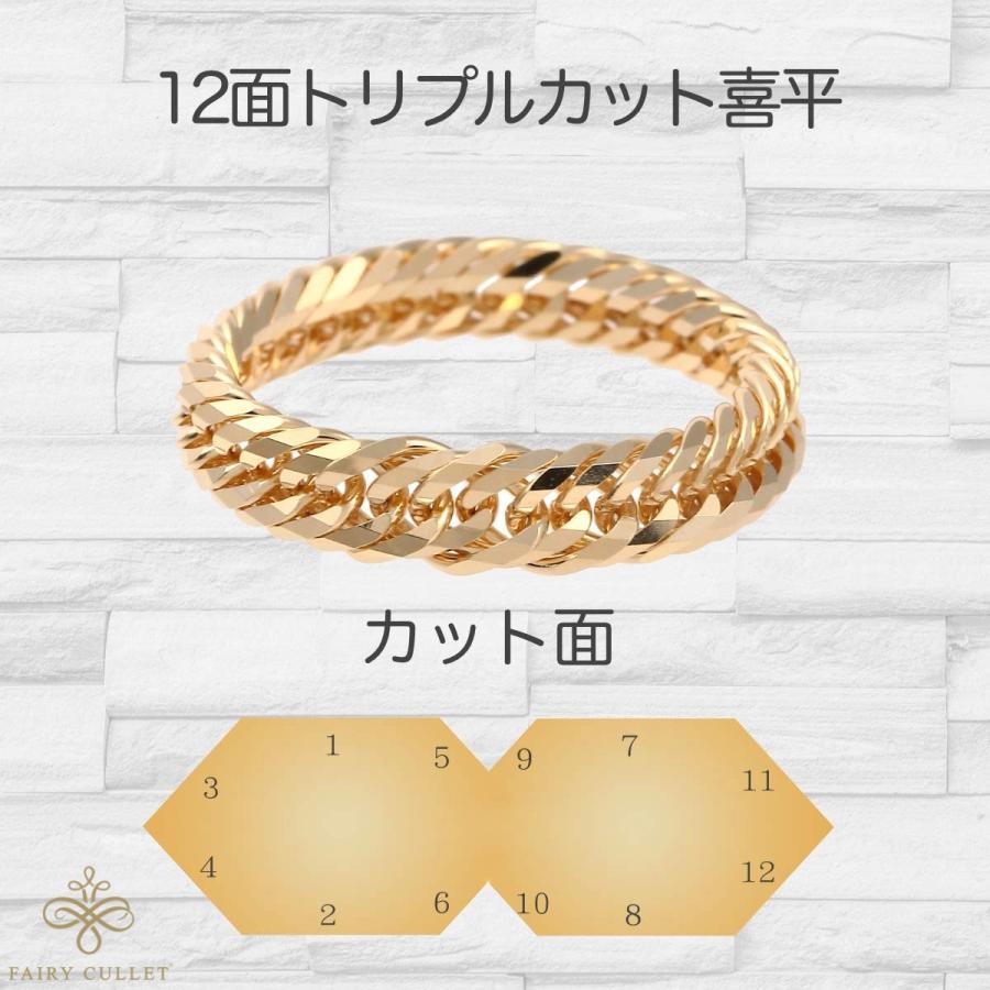 18金リング K18 12面トリプル喜平リング 日本製 (11号、内径16.3mm 外径19.7mm) takumi-shopping 03