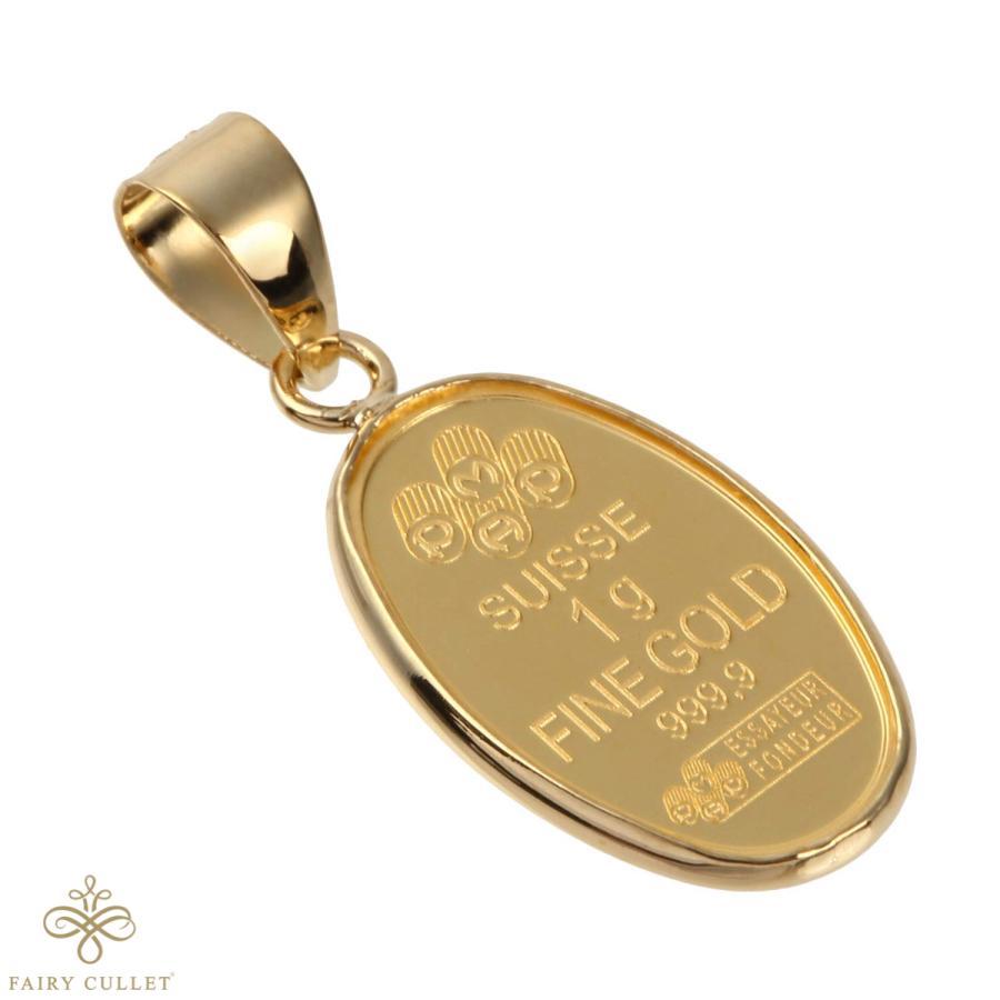 スイスPAMP社製の純金製の聖母マリアプレートと日本製18金フレームのペンダントトップ|takumi-shopping|03