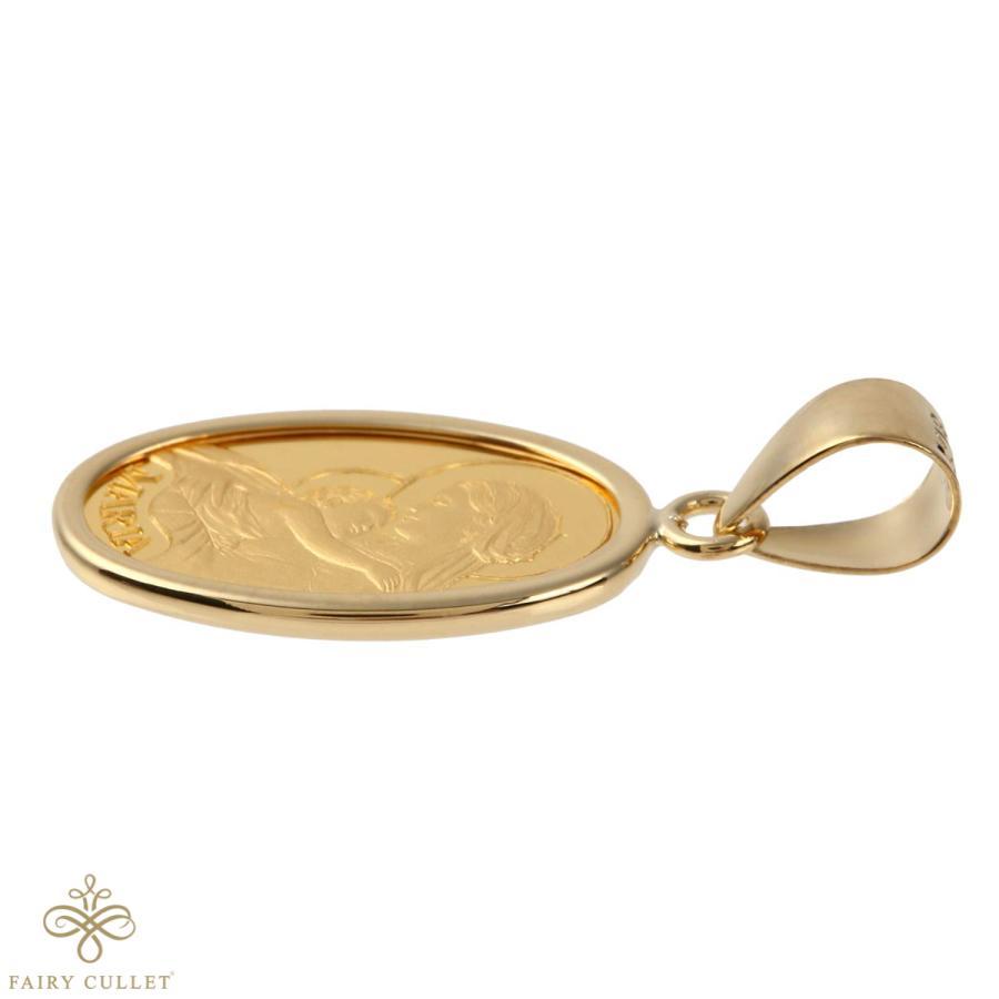 スイスPAMP社製の純金製の聖母マリアプレートと日本製18金フレームのペンダントトップ|takumi-shopping|04