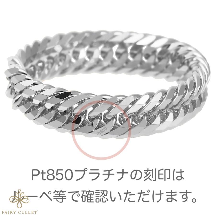 Pt850 12面トリプルチェーン型 喜平プラチナリング 日本製 (17号、内径18.33mm、外径21.73mm) takumi-shopping 05