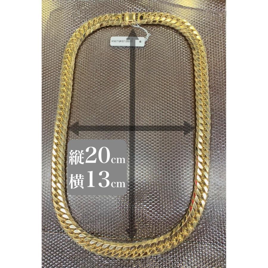 18金ネックレス K18 6面W喜平チェーン 日本製 検定印 303g 60cm 中留めWロック takumi-shopping 06