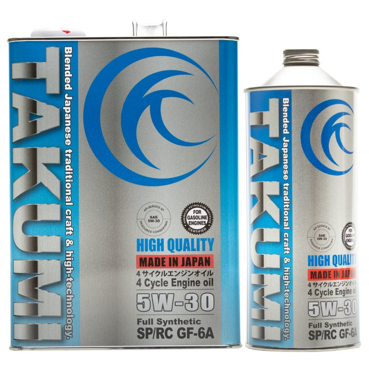 エンジンオイル 限定品 5L 5W-30 SP ギフト RC GF-6 化学合成油HIVI 送料無料 QUALITY TAKUMIモーターオイル HIGH