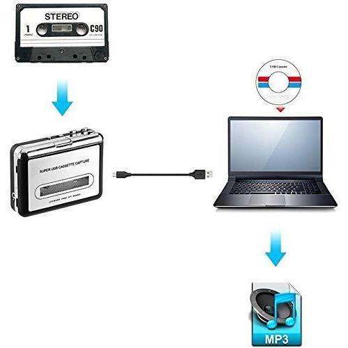 2020年最新版 ダイレクト カセットテープ MP3変換プレーヤー カセットテープデジタル化 コンバーター PC不要 USB? takumire 03