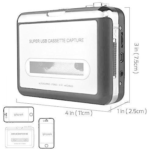 2020年最新版 ダイレクト カセットテープ MP3変換プレーヤー カセットテープデジタル化 コンバーター PC不要 USB? takumire 07
