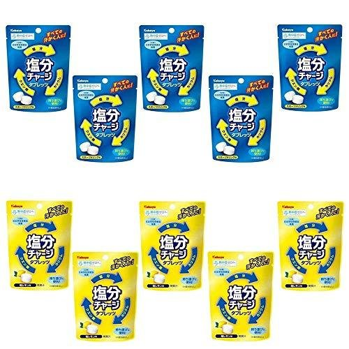 チープ カバヤ食品 ブランド品 塩分チャージタブレッツ 21g×5袋 計10袋セット 塩レモン味