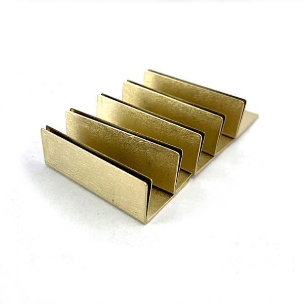 日本製 割引も実施中 送料無料でお届けします アンティーク調 ブラス 真鍮 カードスタンド ポストカード立て ワイドサイズ 値札 名刺 5個セット