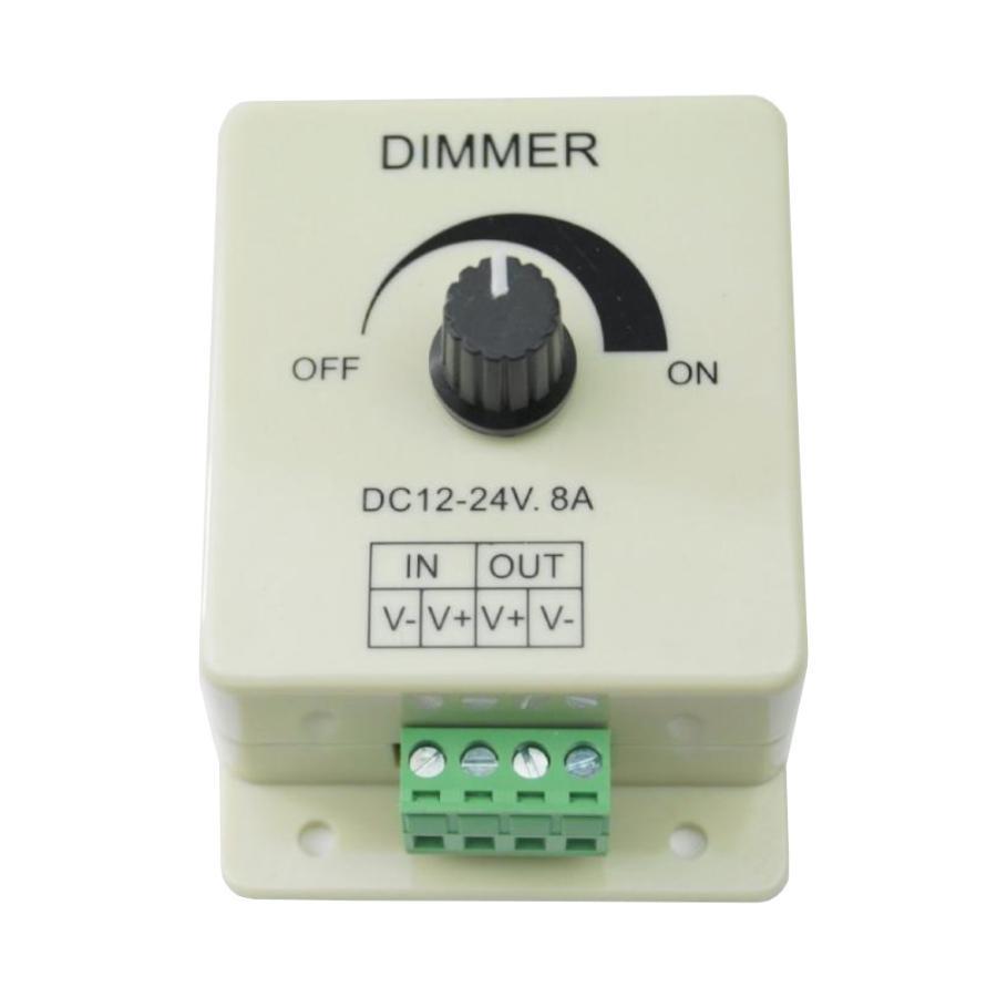 LEDの明るさ調整 DimmerコントローラーLED制御12-24V 8A  並行輸入品|takuta2