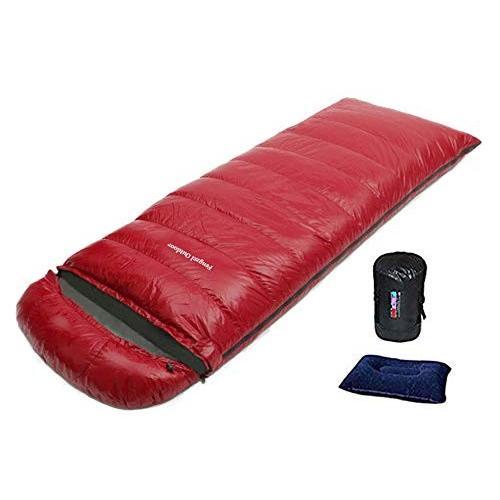 寝袋 封筒型 美しい光沢 1000-2200g高級ダウン詰め 連結可能 圧縮ケース付き アウトドア 自宅 登山 防災用 極限耐寒 快眠シュラフ (ワ