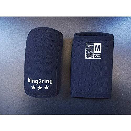 king2ring エルボースリーブ pk2400pro 7mm ペア (黒, L)