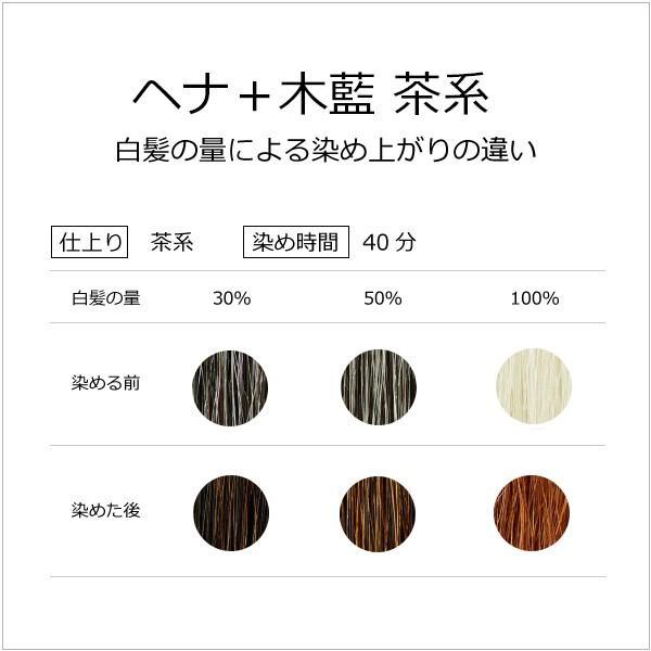 ナイアードヘナ  - ヘナ+木藍(茶系)100g  天然100%白髪染め 白髪を自然な「茶系」の色に染めたい方向け|tamashii|03