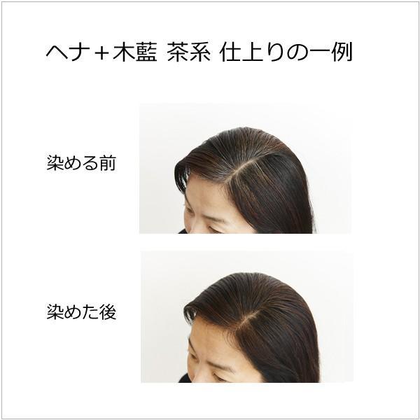 ナイアードヘナ  - ヘナ+木藍(茶系)100g  天然100%白髪染め 白髪を自然な「茶系」の色に染めたい方向け|tamashii|05