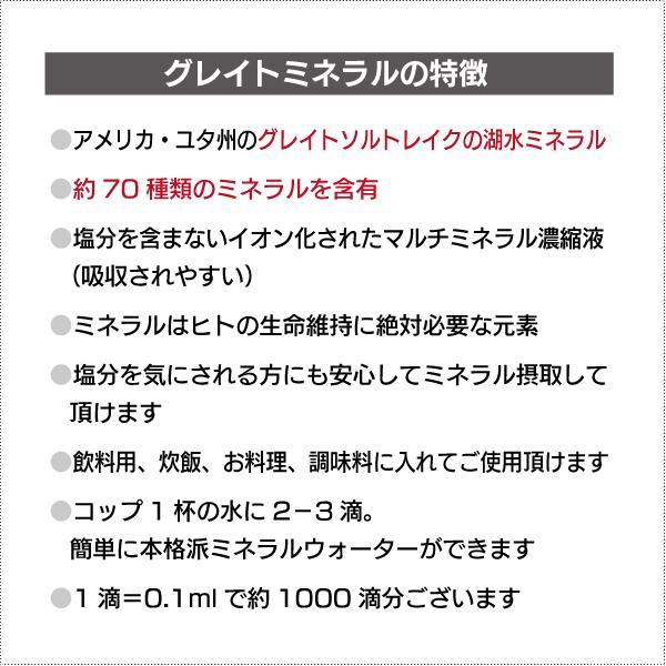 天然マルチミネラル濃縮液 - グレイトミネラル100ml(約1000滴分) マルチミネラルの決定版 グレイトソルトレイクミネラル70種類  添加物無添加|tamashii|03