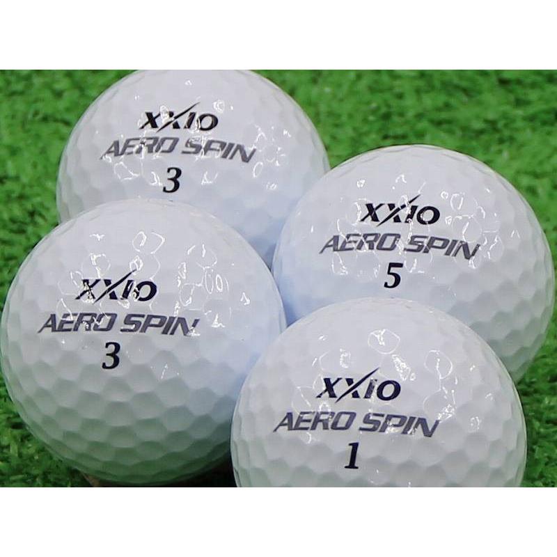 ロストボール Aランク ロゴなし ゼクシオ AERO SPIN ホワイト 100個セット