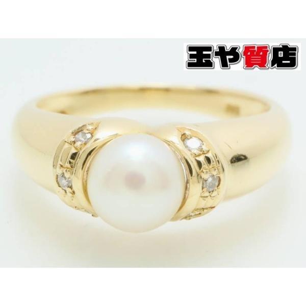 世界有名な パール5ミリ ダイヤ デザイン リング 11号 K18YG イエローゴールド, トラッド ハウス フクスミ a17693c8