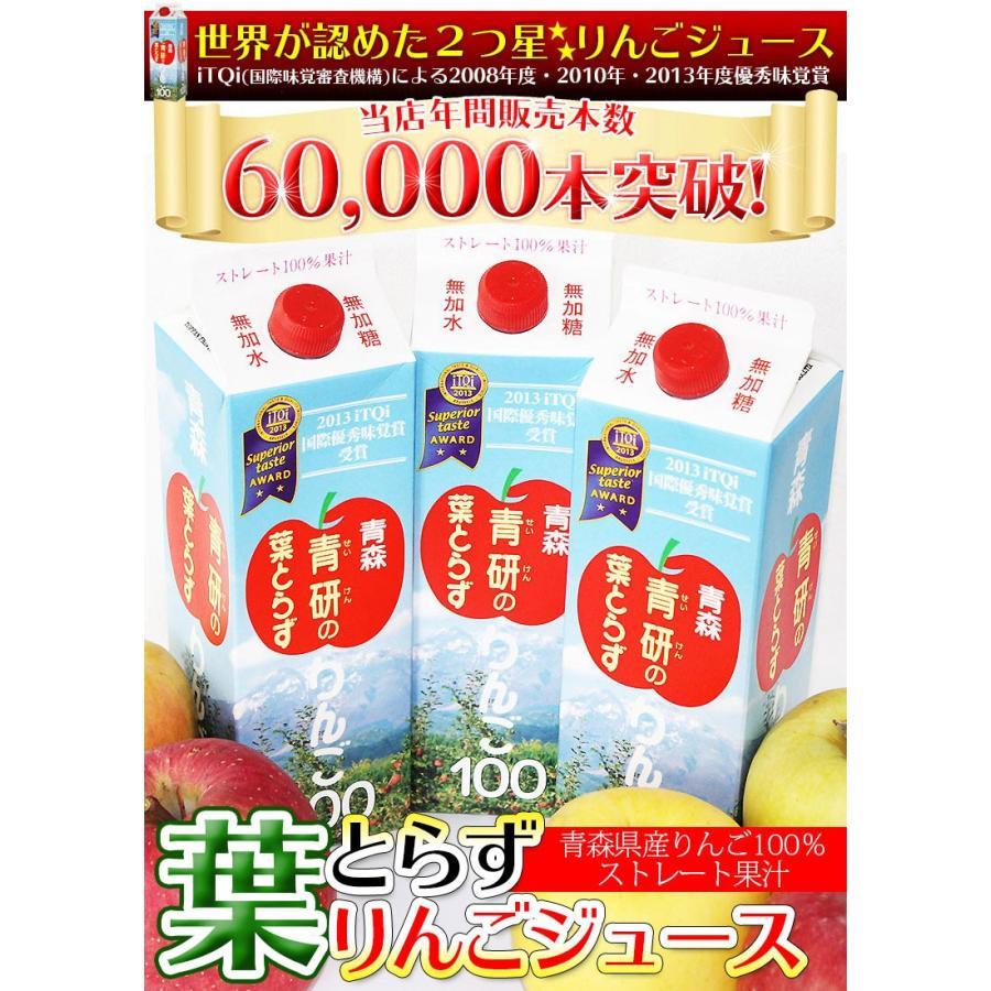 ジュース 葉とらずりんごジュース 青森県産 青研 1000g×6本入り あすつく tamenobu-store 02
