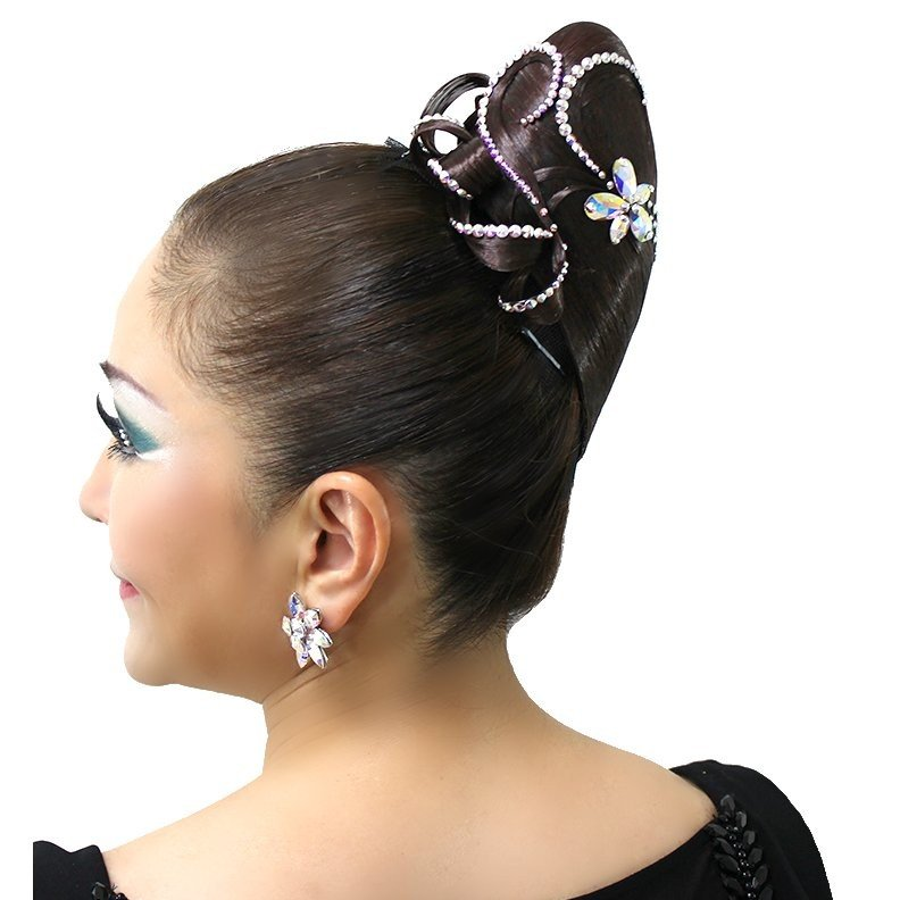 社交ダンスヘアーアクセサリー 髪飾り ヘアードレス ハイトップ型 DH001