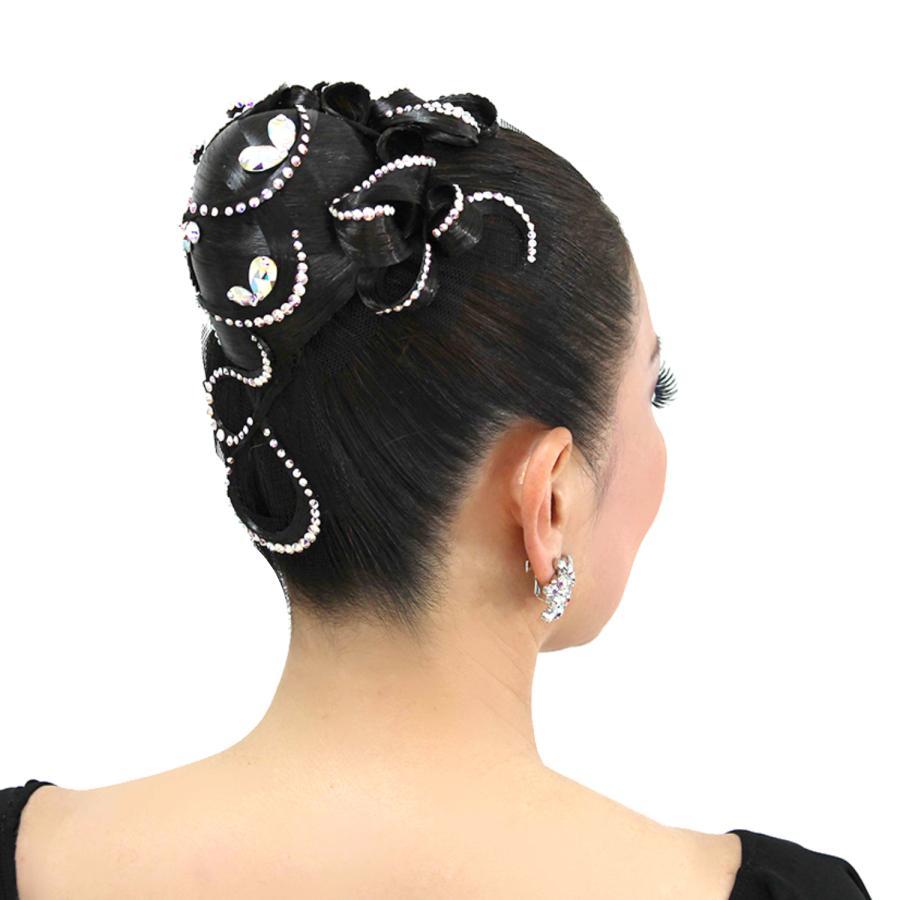 ダンスヘア ヘア小物 ダンスヘアアクセサリー 社交ダンス 髪上げ ヘアードレス スマート型 DK015