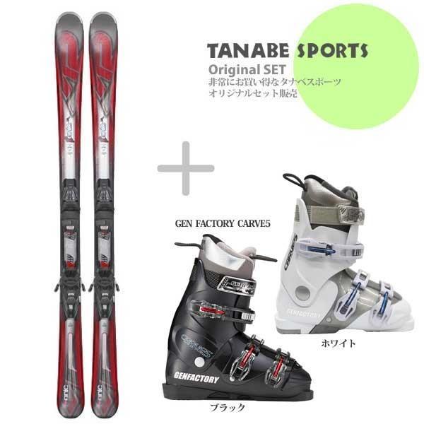 【スキー セット】K2〔ケーツー スキー板〕<2017>Konic 75〔コニック 75〕 + M2 10 QUICKLICK + GEN FACTORY〔ブーツ〕CARVE 5