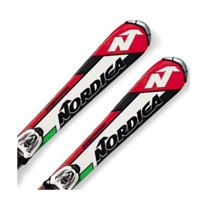 NORDICA〔ノルディカ ジュニアスキー板〕<2017>TEAM J RACE FASTRAK〔白い/緑〕 + M 4.5 FASTRAK 【金具付き・取付料無料】