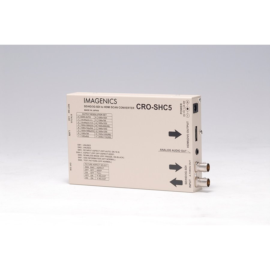 SD/HD/3G-SDI to HDMI変換器 CRO-SHC5 イメージニクス スキャコン付き