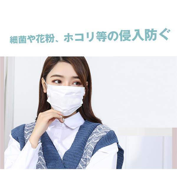 200枚入り 不織布マスク マスク 不織布 在庫あり 使い捨てマスク マスク 三層マスク花粉症 対策 三層構造  ホワイト 男女兼用 大人用 箱なし 高品質 CE認証|tanakast|04