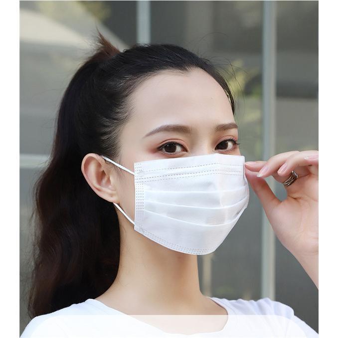 短納期 不織布マスク 在庫あり  安い 使い捨てマスク  防護マスク ウイルス対策 三層構造  ホワイト 男女兼用 大人用 箱なし 高品質 CE認証 大量注文可能 tanakast 09