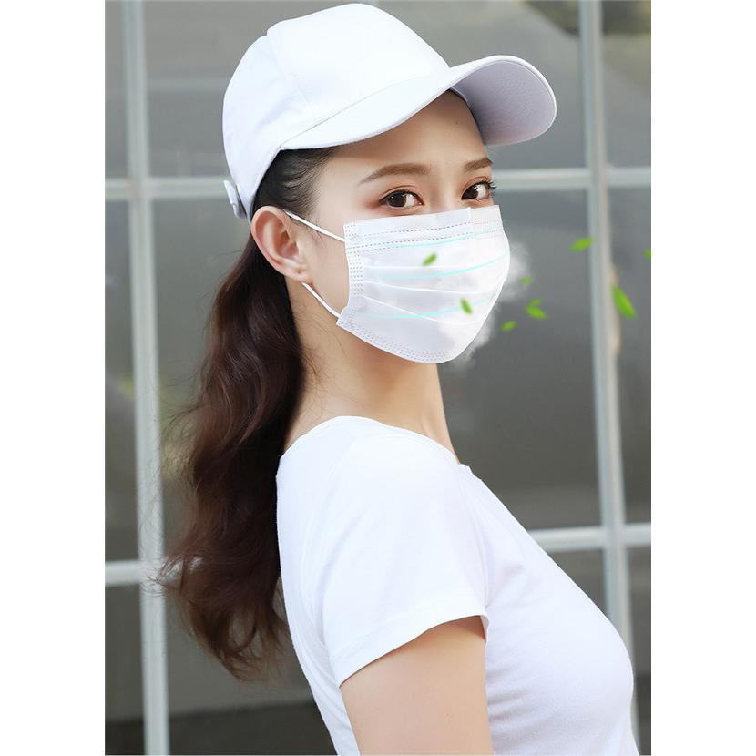短納期 不織布マスク 在庫あり  安い 使い捨てマスク  防護マスク ウイルス対策 三層構造  ホワイト 男女兼用 大人用 箱なし 高品質 CE認証 大量注文可能 tanakast 10