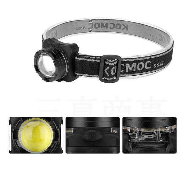 ヘッドライト USB充電式 COB 軽量 強力 ヘッドランプ ヘルメット アウトドア キャンプ 登山 夜釣り 作業用 防災 明るい コンパクト 新品 携帯 便利グッズ 大人気 tanakaya4649 05