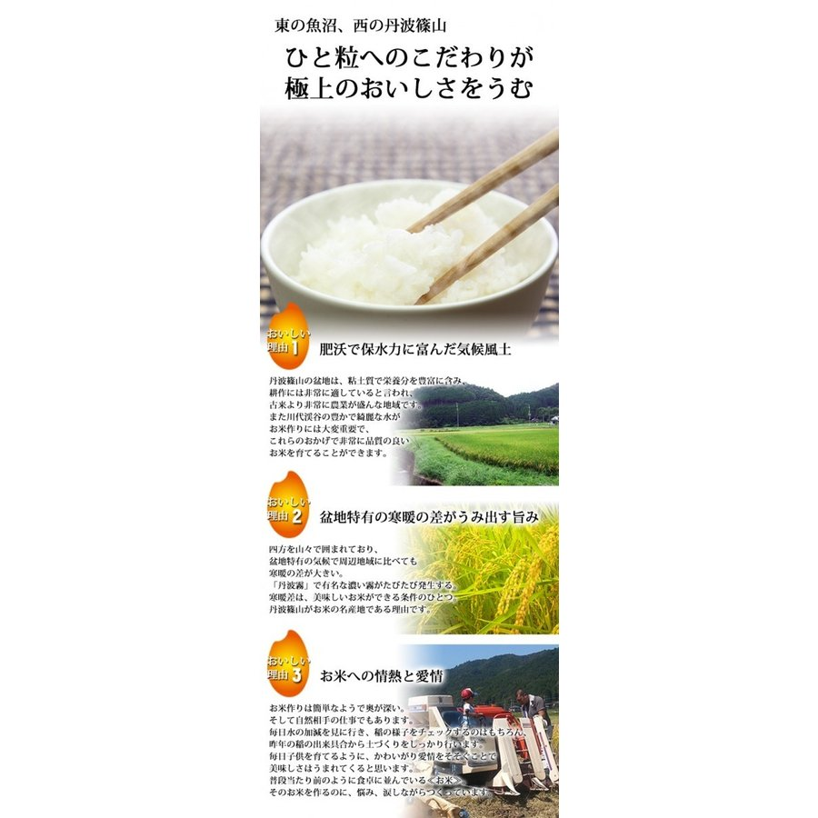 新米 丹波産コシヒカリ 除草剤、農薬、化学肥料一切不使用 あかりの白雫 1.5kg×2袋 精米※未選別|tanba-akari-farm|04