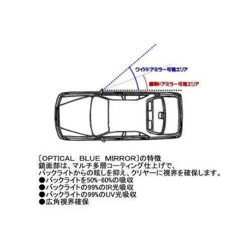 プリウスZVW30専用 防眩ブルー・ワイドドアミラー|tandtshop-ink|03
