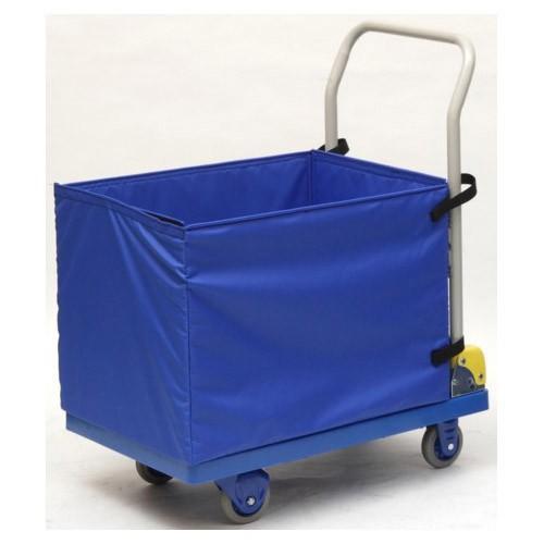 金沢車輌 小型環境静音樹脂台車 屋内用収納ボックス付 NP-107EGS