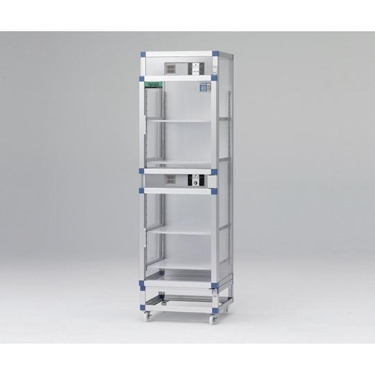 アズワン(AS ONE) オートドライデシケーターFNツイン 574×524×1945mm 強化プラスチック棚板(1-4844-01)