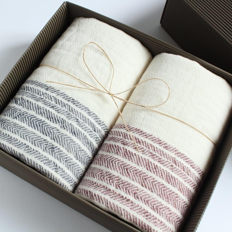 今治タオル コンテックス フラックスライン ギフトセット Imabari Towel Kontex Flax Line GiftSet フェイスタオル2枚|tanokichi