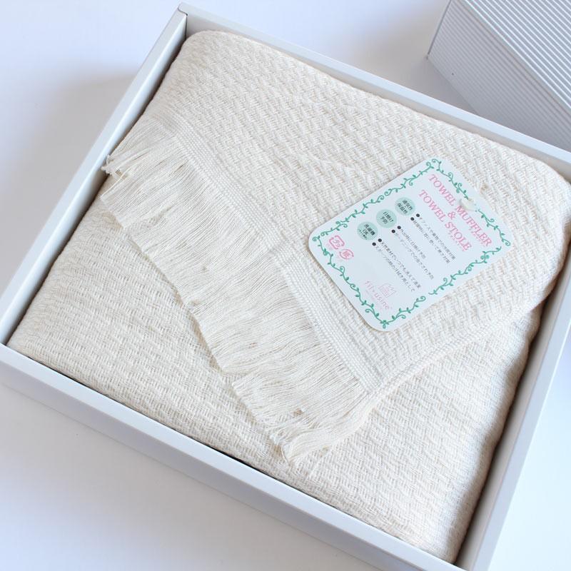 今治タオル タオル ストール なみ ギフトセット Imabari Towel Towel Stole Nami GiftSet アイボリー tanokichi