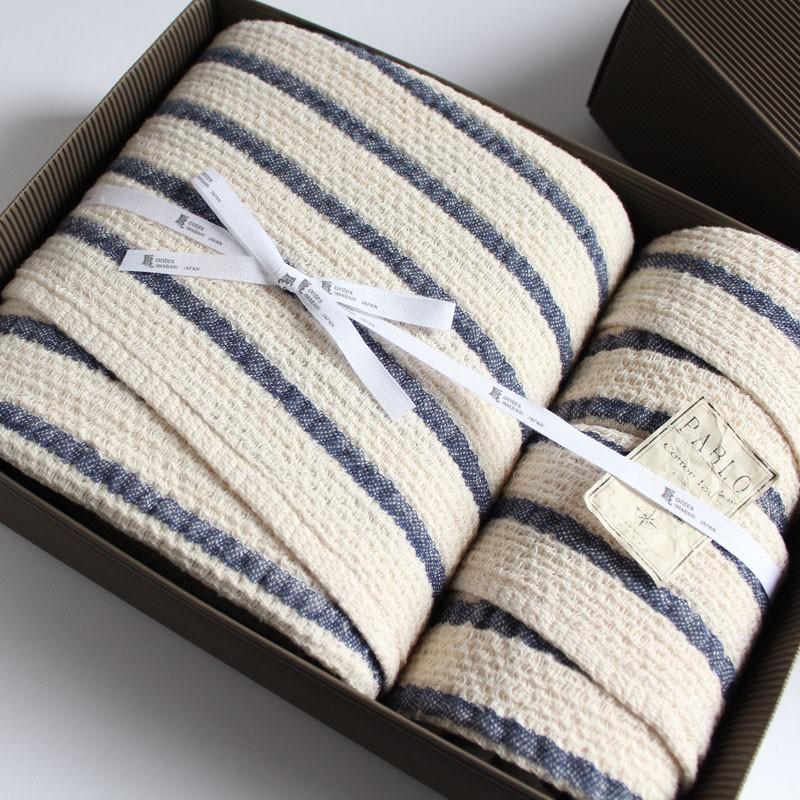 今治タオル コンテックス パブロ ギフトセット Imabari Towel Kontex Pablo GiftSet Size XL1枚xSize M1枚xSize S1枚|tanokichi