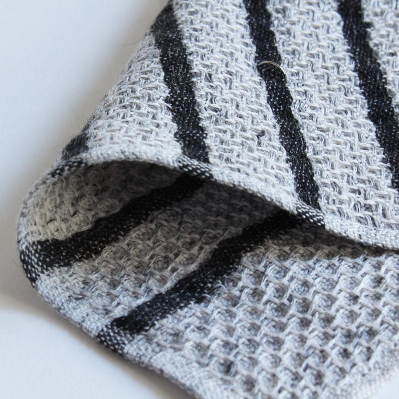 今治タオル コンテックス ハンカチーフ Imabari Towel Kontex Handkerchief ワッフル チャコールグレー|tanokichi|02