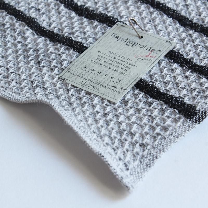 今治タオル コンテックス ハンカチーフ Imabari Towel Kontex Handkerchief ワッフル チャコールグレー|tanokichi|03