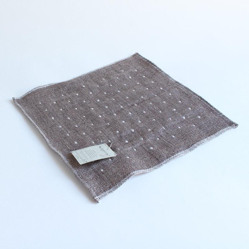 今治タオル コンテックス ハンカチーフ Imabari Towel Kontex Handkerchief ピンドット ブラウン|tanokichi