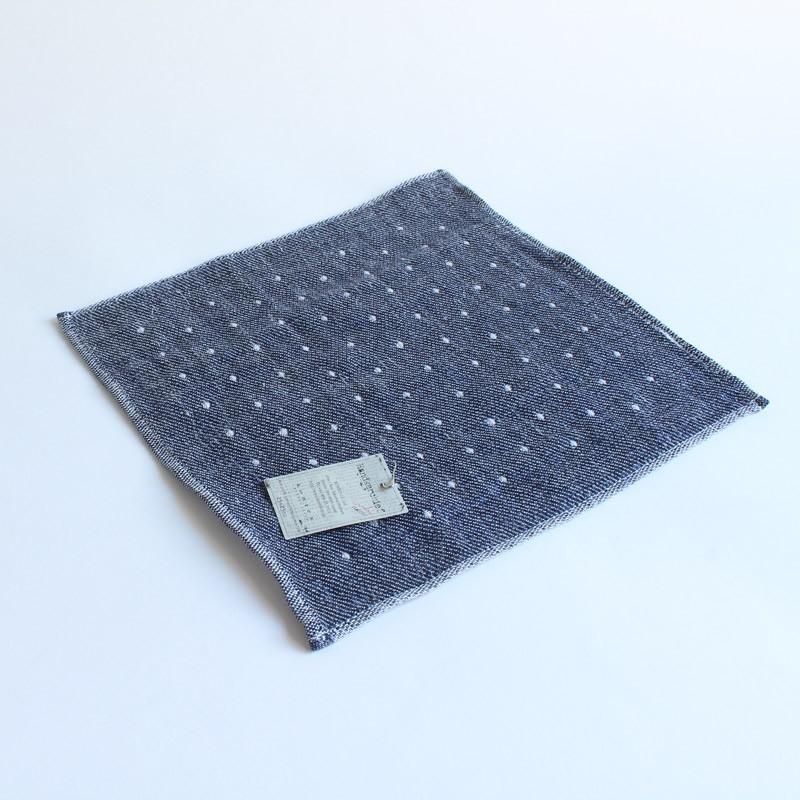 今治タオル コンテックス ハンカチーフ Imabari Towel Kontex Handkerchief ピンドット ネイビー|tanokichi