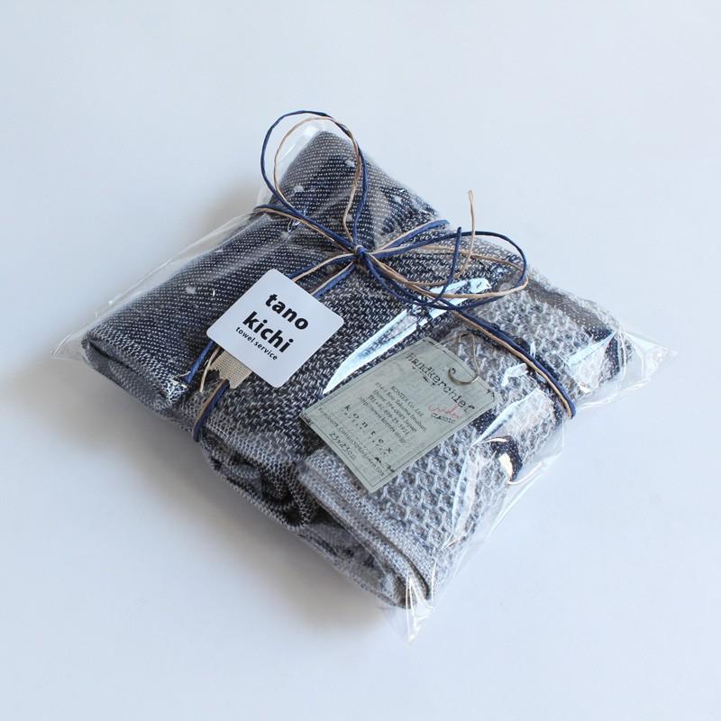 今治タオル コンテックス ハンカチーフ Imabari Towel Kontex Handkerchief ピンドット ネイビー|tanokichi|04