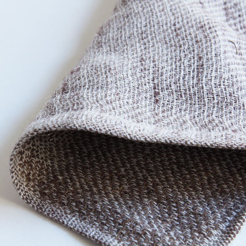 今治タオル コンテックス ハンカチーフ Imabari Towel Kontex Handkerchief リネンツィード ブラウン|tanokichi|02