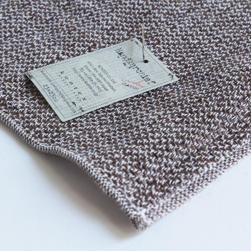 今治タオル コンテックス ハンカチーフ Imabari Towel Kontex Handkerchief リネンツィード ブラウン|tanokichi|03