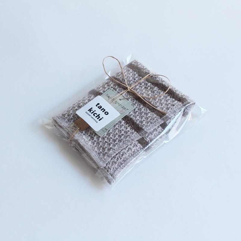 今治タオル コンテックス ハンカチーフ Imabari Towel Kontex Handkerchief リネンツィード ブラウン|tanokichi|06