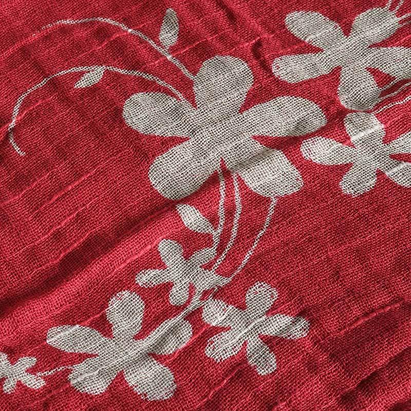 今治タオル コットンマフラー Imabari Towel Cotton Muffler Hana 華 レッド tanokichi 03