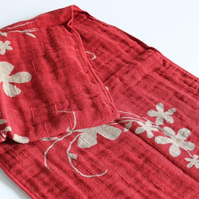 今治タオル コットンマフラー Imabari Towel Cotton Muffler Hana 華 レッド tanokichi 04