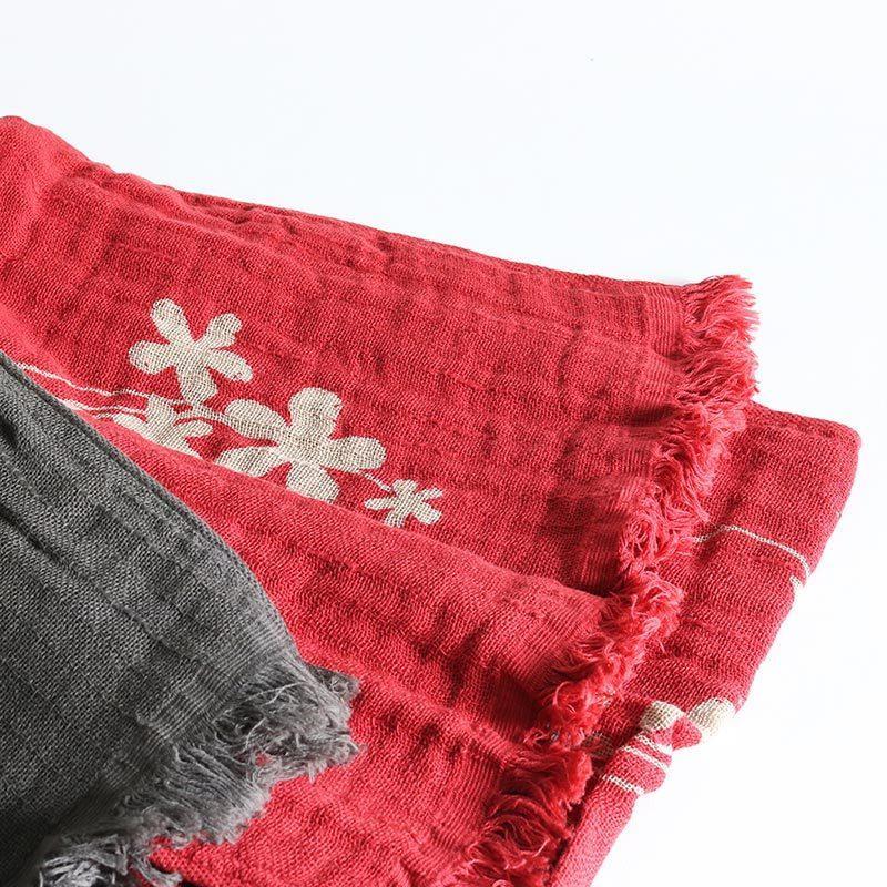 今治タオル コットンマフラー Imabari Towel Cotton Muffler Hana 華 レッド tanokichi 05